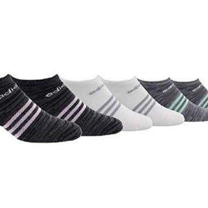 adidas Accessories - Adidas Women's Super No Show 6 Pair Climate Socks